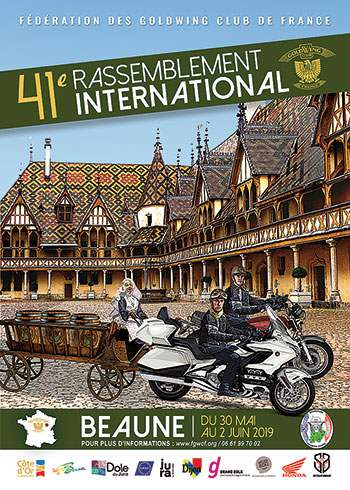 41e rassemblement international du Goldwing Club de France à Beaune (21) du 30 mai au 2 juin 2019