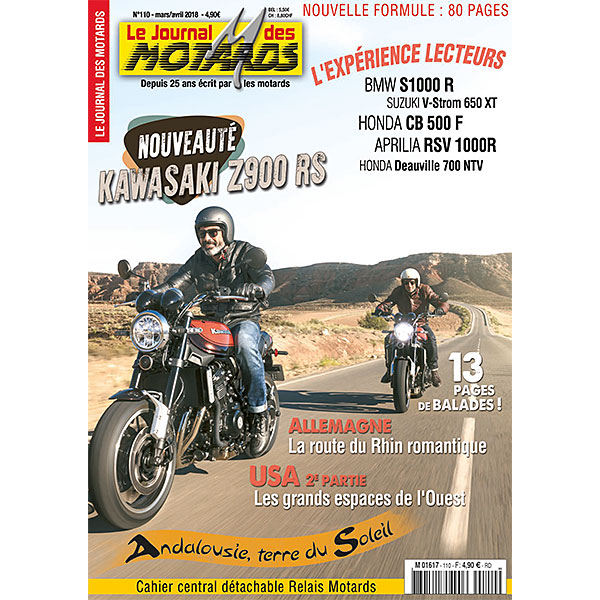 LE JOURNAL DES MOTARDS n°110 - mars / avril 2018